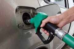 Petrol station. Filling the car with fuel . Petrol station. Filling the car with fuel stock photos