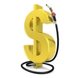 Dollar pump Royalty Free Stock Image