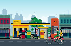 Petrol station Royalty Free Stock Image