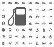 Petrol station icon. Transport and Logistics set icons. Transportation set icons.  Stock Images