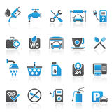 Petrol station icons Stock Photography