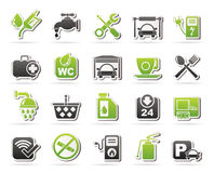 Petrol station icons Royalty Free Stock Photo
