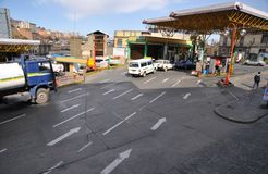 The Petrol station in La Paz. Royalty Free Stock Photo