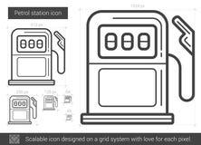 Petrol station line icon. Royalty Free Stock Image