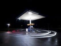 Petrol station at night Stock Image