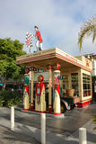 Petrol station in retro style. Los Angeles, CA, United States - 14 June 2010. The exhibit - a petrol station in retro style. Displaying looked like a gas station Stock Photo