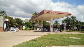 Petrol Station. In Siem Reap Cambodia stock image