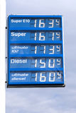 Petrol station, sign Stock Photography