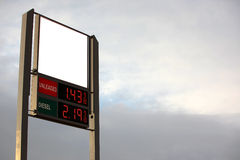 Petrol station sign with empty space Stock Photo