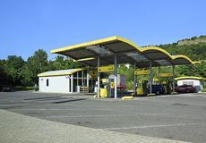 Petrol station in the suburbs Prague Stock Photos