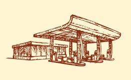 Petrol station. Vector drawing Stock Image