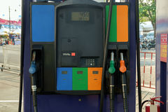 Petrol station. View of petrol pump station royalty free stock photos