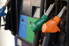 Petrol station. View of petrol pump station stock images