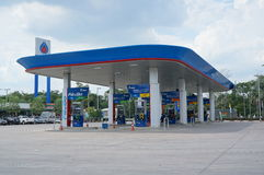 Petrol stations. Ptt is  with Thailand government is a major shareholder and a state enterprise that has the highest income of Thailand.by a number of most  in Royalty Free Stock Images