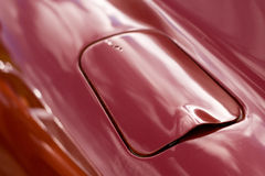 Petrol Tank Cap. A beautifully styled petrol tank cap from a vintage sportscar Stock Photography