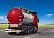 Petrol tanker on the asphalt road, Royalty Free Stock Photo