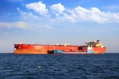 Petrol tanker anchored in Algeciras bay. Stock Photography