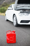 A petrolcan next to car after a breakdown Royalty Free Stock Photos