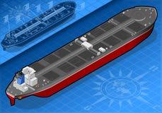 Petroleiro de óleo isométrico na vista traseira ilustração royalty free