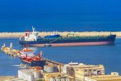 Petroleiro de petróleo fotografia de stock royalty free
