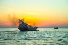 Petroleiro do LPG Fotos de Stock Royalty Free