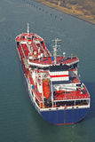 Petroleiro em Kiel Canal fotos de stock