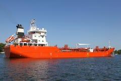 Petroleiro em Kiel Canal imagem de stock