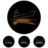 Petroleiros pequenos do grupo ilustração do vetor