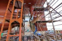 Petrolero del buque en dique seco Fotos de archivo