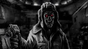 Petrolero del zombi ilustración del vector