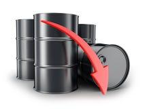 Petroleum, arrow down Stock Photos