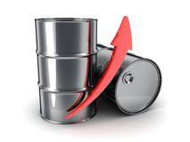 Petroleum, arrow up Royalty Free Stock Photo