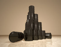 Petroleum barrels pyramid Royalty Free Stock Images