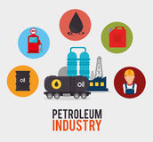 Petroleum design. Royalty Free Stock Images