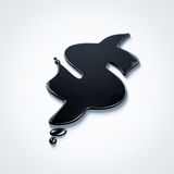 Petroleum dollar sign. Oil puddle in dollar sign shape Stock Images