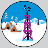 Petroleum emblem. Round emblem for petroleum petroleum-producing Stock Images