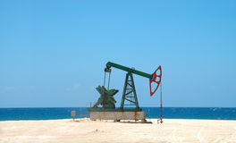 Petroleum extraction on cuban soil Royalty Free Stock Photos