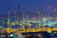 Petroleum factory lights night view Royalty Free Stock Photography
