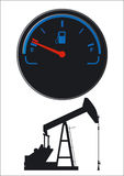 Petroleum fuel gauge Royalty Free Stock Photos
