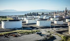 Petroleum fuel industrial refinery in california usa. Petroleum fuel industrial refinery in  california usa Royalty Free Stock Images
