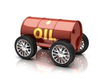 Petroleum fuels vehicle 3d concept. Petroleum fuels vehicle 3d illustration Stock Images