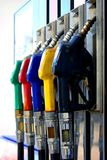 Petroleum guns. Fuel filling station petroleum guns royalty free stock photo