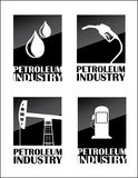 Petroleum industry. Over white background vector illustration Royalty Free Stock Images