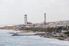 Petroleum Industry on Coast of Curacao Stock Photos
