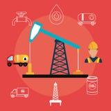 Petroleum industry design. Royalty Free Stock Photo