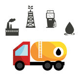 Petroleum industry design. Royalty Free Stock Images