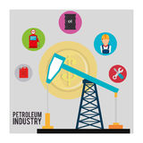 Petroleum industry Stock Image