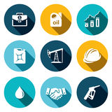 Petroleum industry flat icon collection Royalty Free Stock Photos