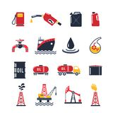 Petroleum Industry Icon Set Stock Photography