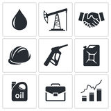 Petroleum industry icon set Stock Image